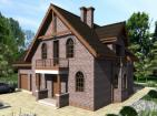 Проект индивидуального одноэтажного жилого дома с мансардой и гаражом
